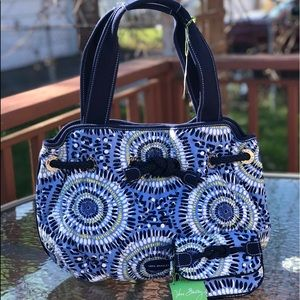 VERA BRADLEY STARRY NIGHT BAG with WALLET